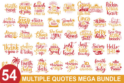 54 Multiple SVG Mega Bundle