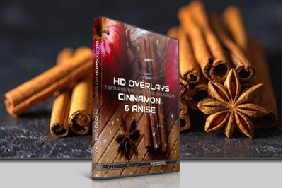 200 HIGH QUALITY CINNAMON & Anise, Digital Photoshop Overlays