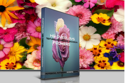 200 HIGH QUALITY FLOWERS, Digital Photoshop Overlays