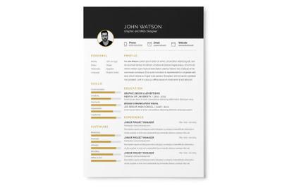 Black Resume + Cover Letter