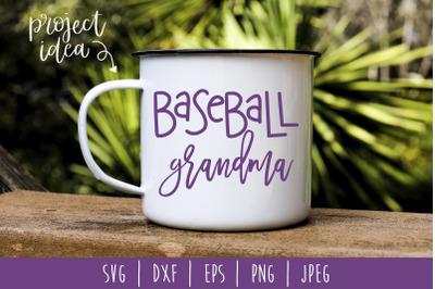 Baseball Grandma SVG, DXF, EPS, PNG, JPEG