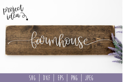 Farmhouse SVG, DXF, EPS, PNG, JPEG