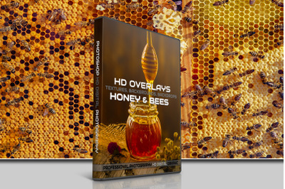 200 HIGH QUALITY HONEY & Bees Digital Photoshop Overlays