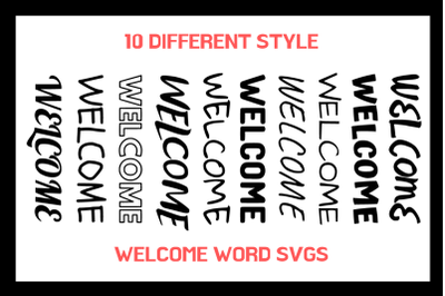 10 Different Style Welcome SVGs For Crafters