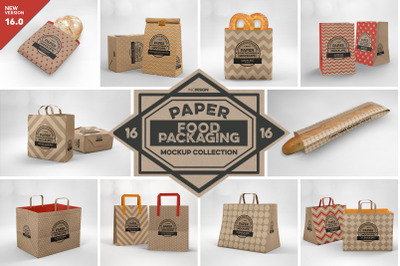 VOL.16 Food Box Packaging Mockups