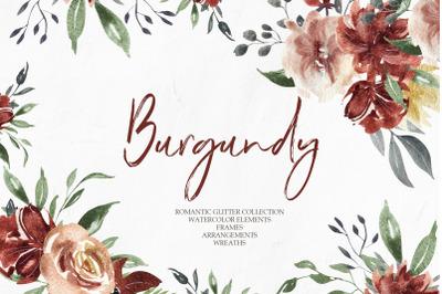 Burgundy Elegant Graphic Collection