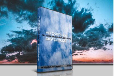 200 HIGH QUALITY SKY Clouds, Digital Photoshop Overlays