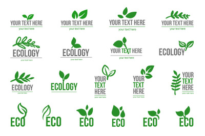Ecological logo leaves symbol