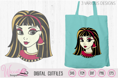 Cleopatra svg, girl svg, Egyptian goddess,