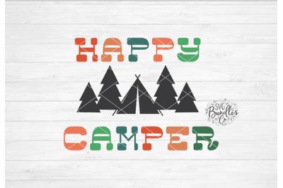 Happy Camper SVG DXF PNG