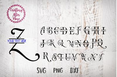 Split Alpahbet Monogram Font Svg, Monogram Letter J, Monogram Svg, Spl