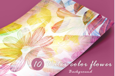 10 Water color flower vol.2