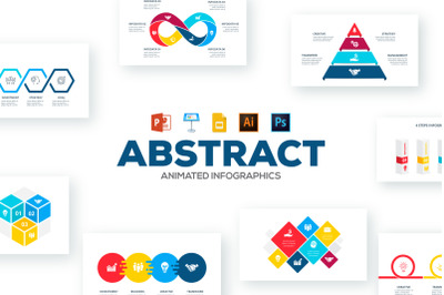 Abstract animated infographics