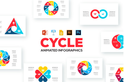Cycle animated infographics