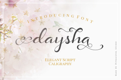 Daysha - Wedding Font
