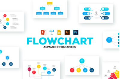 Flowchart animated infographics