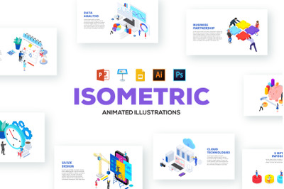 Isometric animated illustrations
