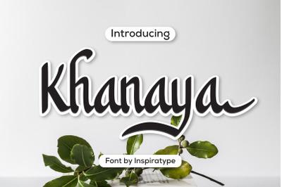 Khanaya - Serif Script Font