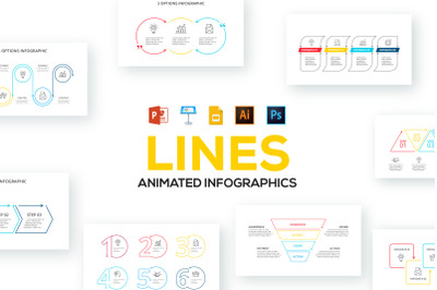 Line animated infographics