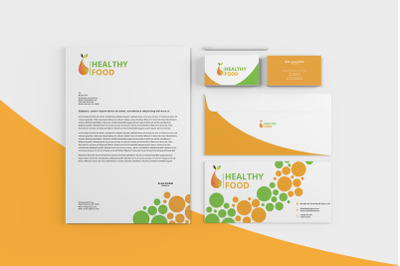 Corporate Stationery Pack Healthy Food + Logo