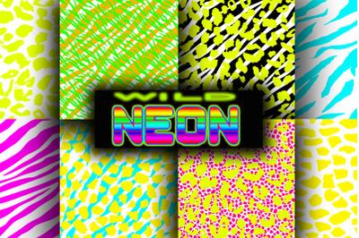 Wild Neon Seamless Patterns