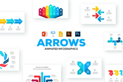 Arrows animated infographics