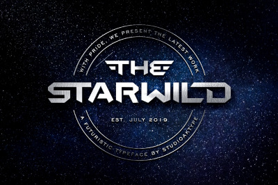THE STARWILD - Futuristic Modern Font