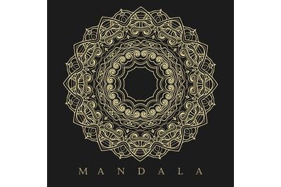 Golden Mandala Pattern Illustration
