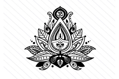 Lotus flower svg vector clipart, yoga svg cut file