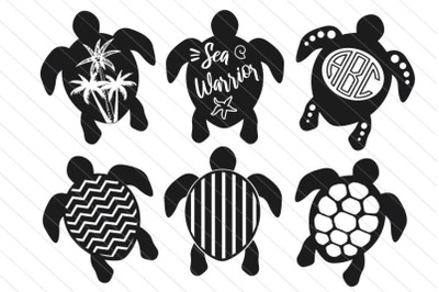 Turtles svg turtle silhouette vector clipart, turtle monogram svg