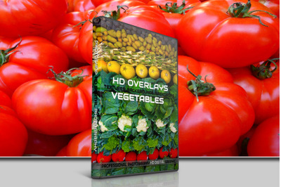 200 HIGH QUALITY VEGETABLES, Food, Digital Photoshop Overlays