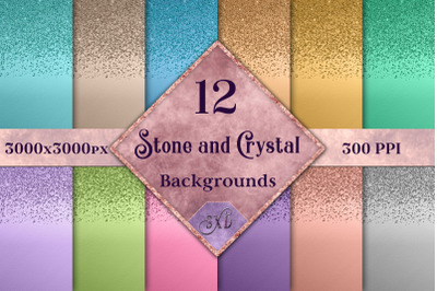 Stone and Crystal Backgrounds - 12 Image Textures