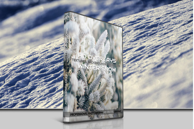 200 HIGH QUALITY Winter SNOW + 60 Png Digital Photoshop Overlays