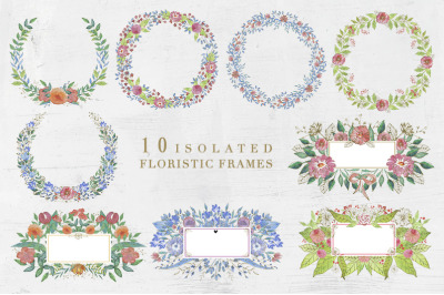 10 Isolated  Floristic Frames