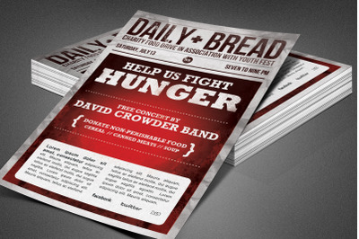 Daily Bread Church Flyer Template