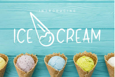 Brush Font and Ice Cream Pack