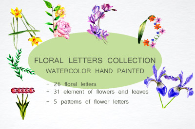 Floral letters collection