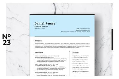 Resume Template Vol. 01