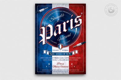 Sounds of Paris Flyer Template