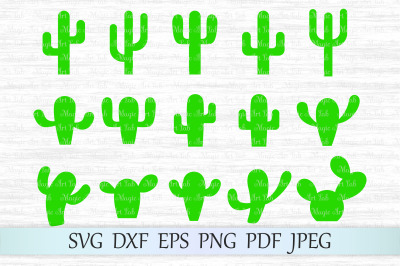 Cactus svg, Cactus cut file, Cactus silhouettes, Cactus clipart