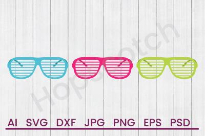 Sunglasses - SVG File, DXF File