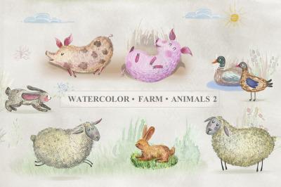 Watercolor Farm Animals (Part2)