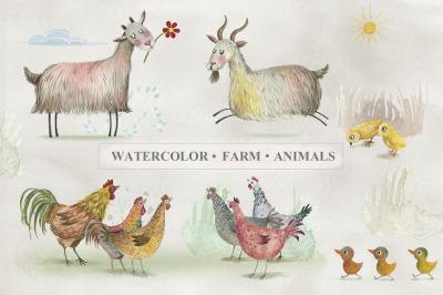 Watercolor Farm Animals (Part1)
