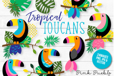 Tropical Toucan Clipart and Vectors