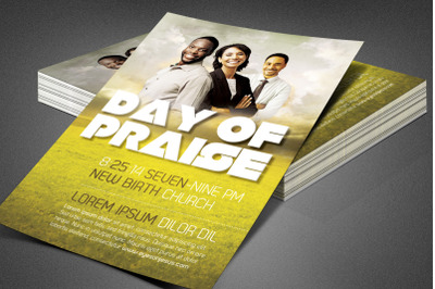 Day of Praise Church Flyer Template