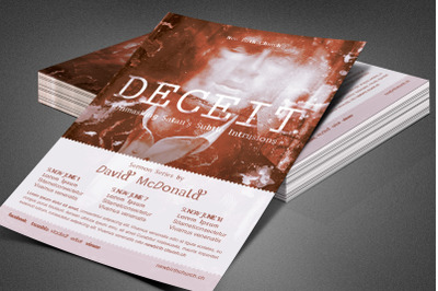 Deceit Church Flyer Template