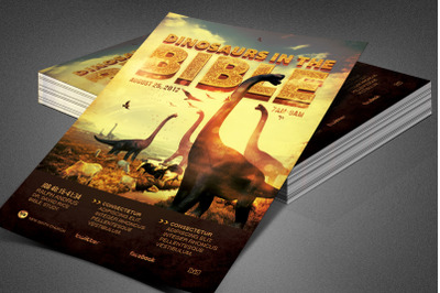 Dinosaurs in the Bible Church Flyer