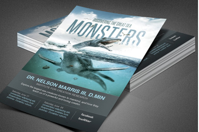 Great Sea Monsters Church Flyer