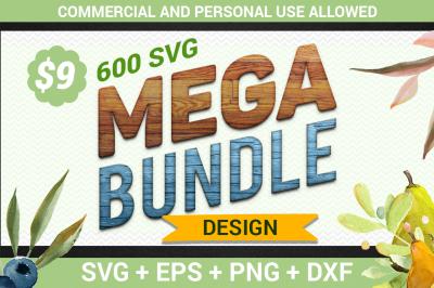600 SVG Mega Bundle