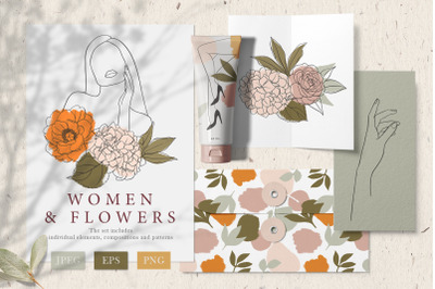 Women & Flowers